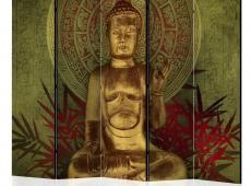 Paraván - Golden Buddha II [Room Dividers]